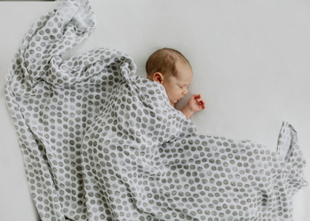 Essential Cotton Blanket - Raindrops