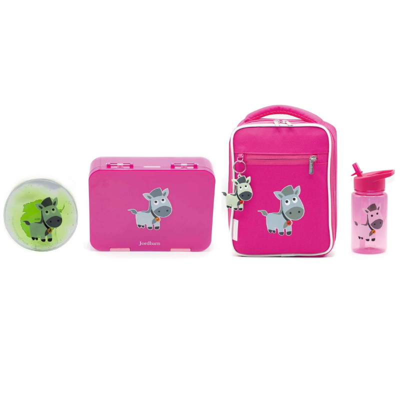 Jordbarn Lunch Value Pack - Pink - Baby Luno