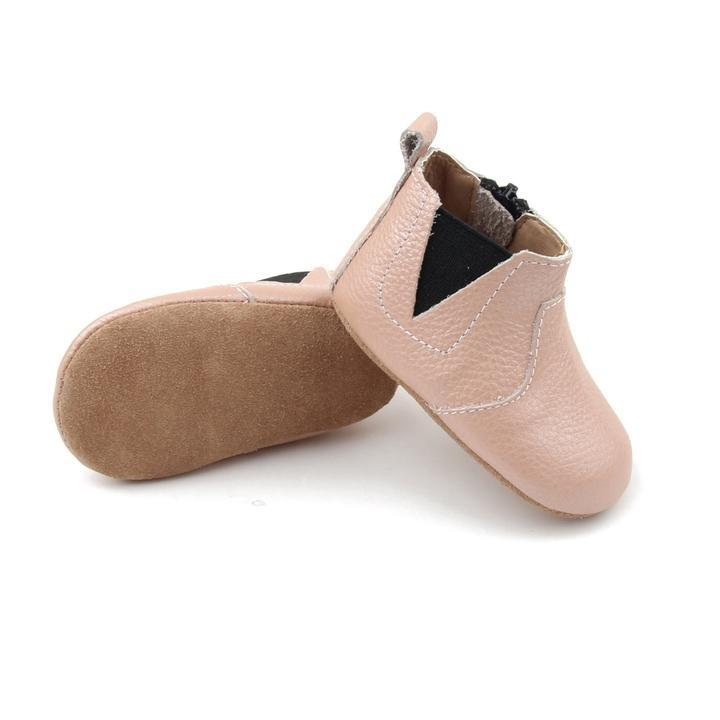 Baby Shoe - Little MeMe Alba Boots Blush Pink - Baby Luno