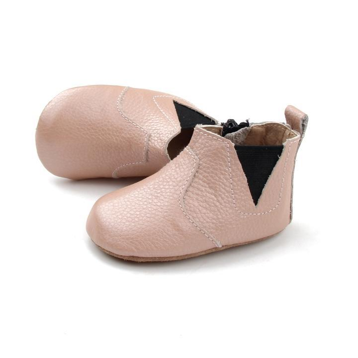 Baby Shoe - Little MeMe Alba Boots Blush Pink