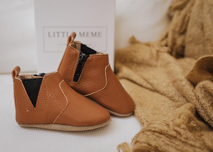 Baby Shoe - Little MeMe Albi Boots Tan - Baby Luno