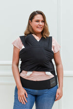 Baby Carrier - BabyDink Black ORGANIC 2.0 - Baby Luno