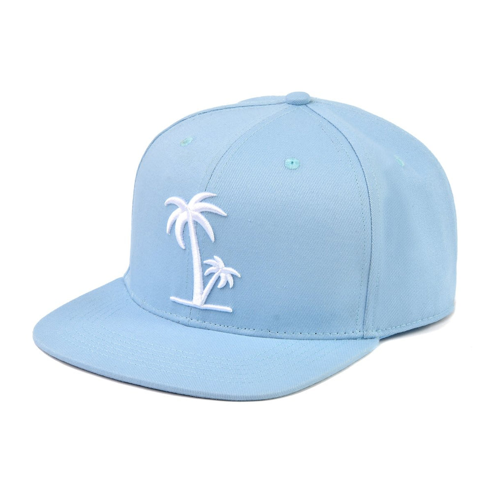 Snapback Hat - Blue Palm (Kids-Adults)