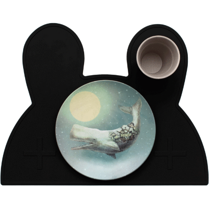 Placemat - Bunny Pure Black - Baby Luno