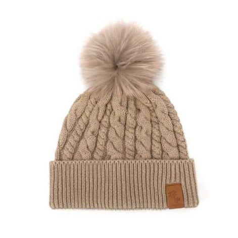 Beanie Knitted - Sand (Kids-Adults)
