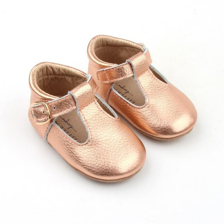 Baby Shoe - Little MeMe Edith Tbar Rose Gold