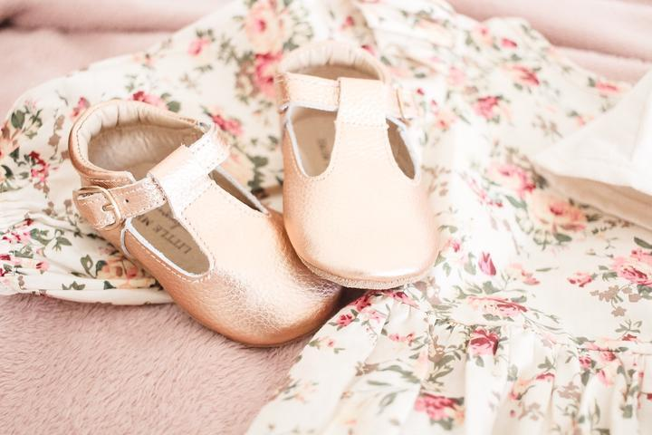 Baby Shoe - Little MeMe Edith Tbar Rose Gold - Baby Luno