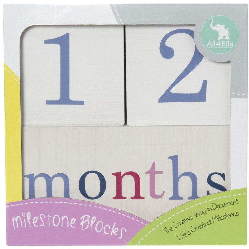 Milestone Blocks - Pink