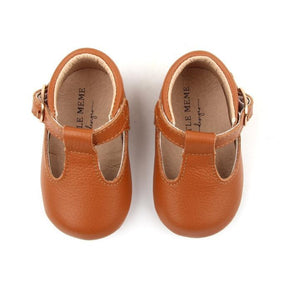 Baby Shoe - Little MeMe Emerson Tbar Tan - Baby Luno