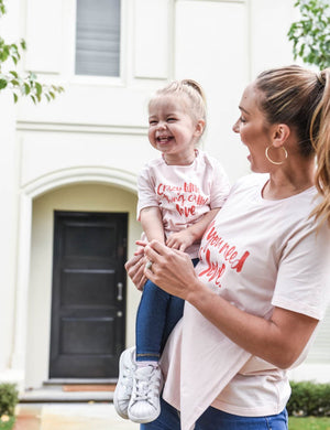 A Crazy Little Thing Called Love Baby/Toddler Tee - Blush - Baby Luno