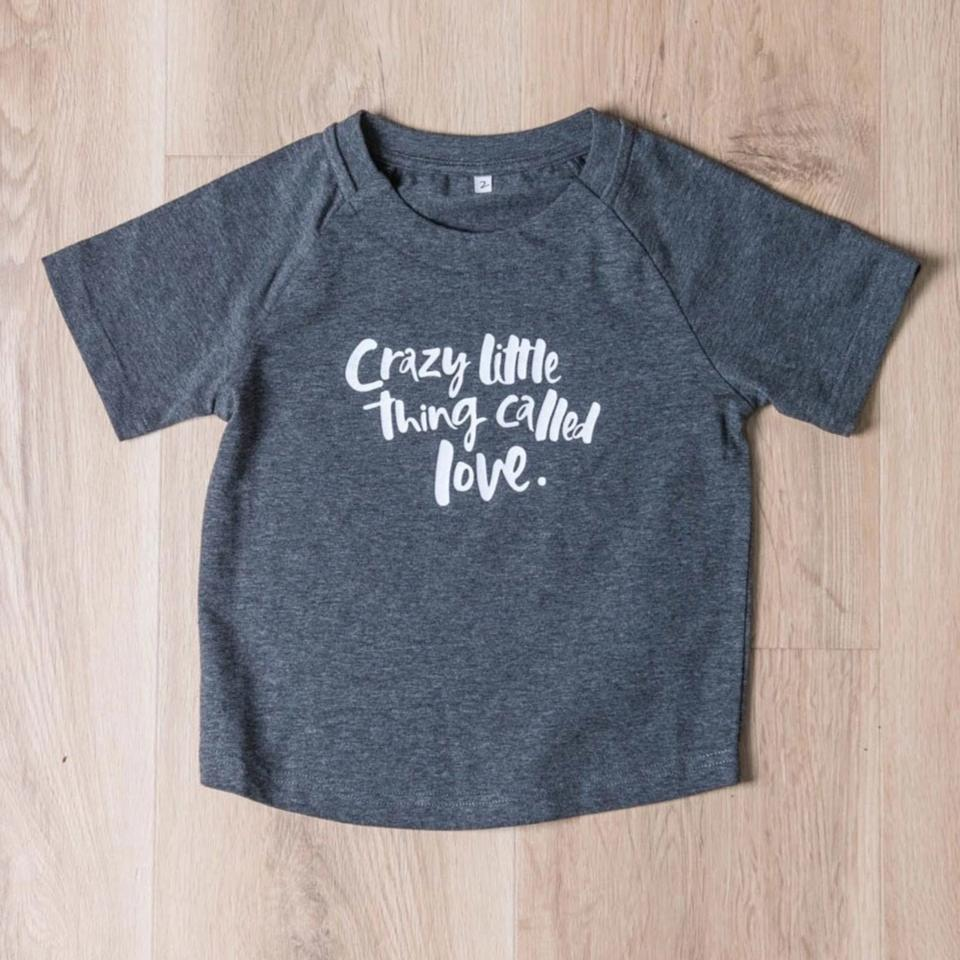 A Crazy Little Thing Called Love Baby/Toddler Tee - Grey