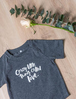 A Crazy Little Thing Called Love Baby/Toddler Tee - Grey - Baby Luno