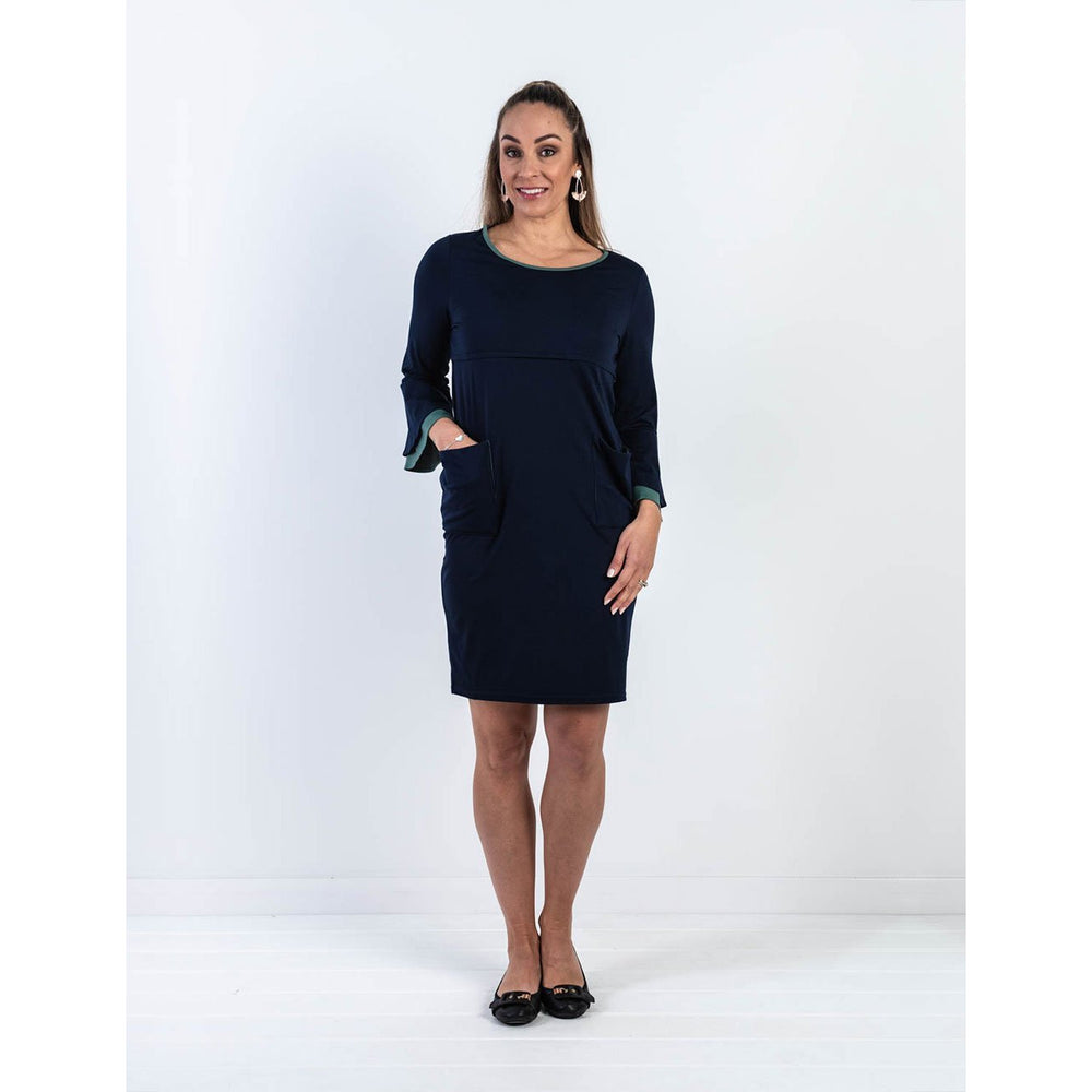 Stacey Flare Sleeve Nursing Dress