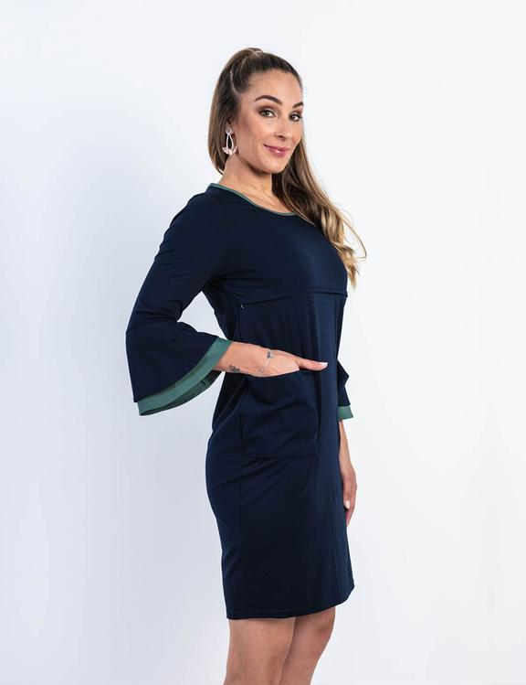 Stacey Flare Sleeve Nursing Dress - Baby Luno