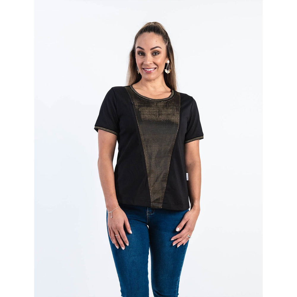 Gold Panel Nursing Top