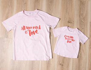 Love Mummy Nursing Tee - Blush - Baby Luno