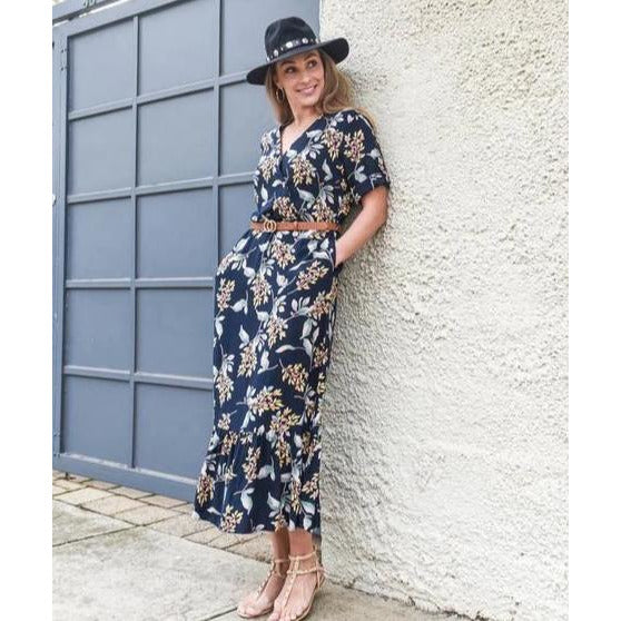 Natasha Floral Maxi Nursing Dress