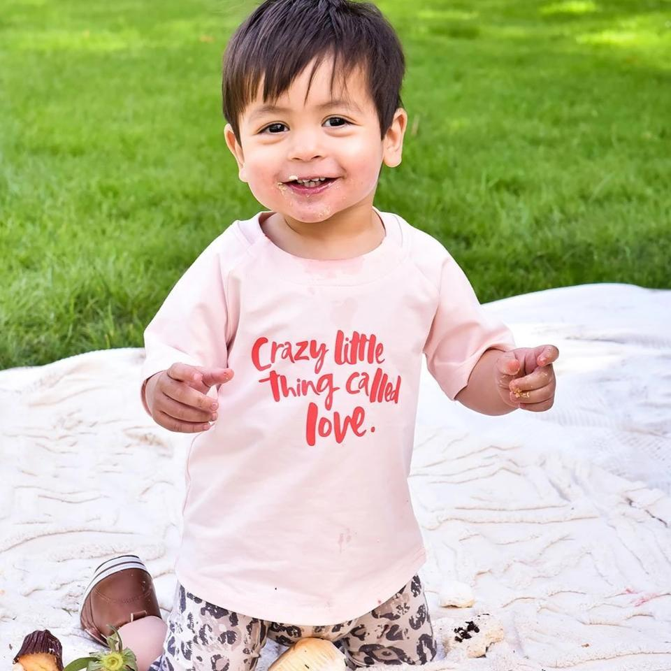 A Crazy Little Thing Called Love Baby/Toddler Tee - Blush
