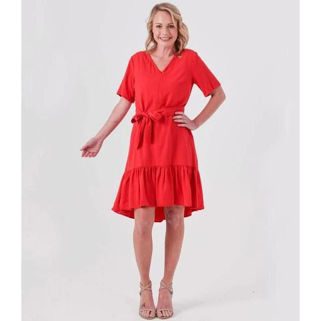 Charley Breastfeeding Dress Red