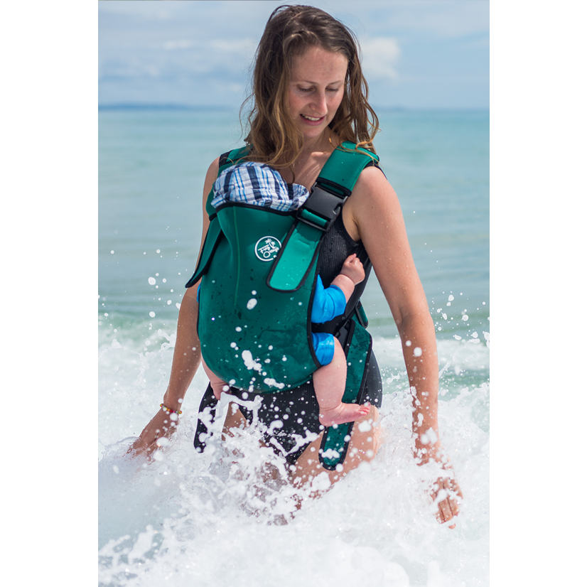 Baby Carrier - Explorer Neoprene Deep Green - Baby Luno