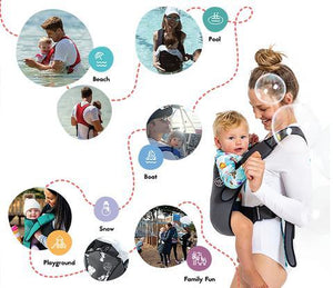 Load image into Gallery viewer, Baby Carrier - Explorer Neoprene Red Love - Baby Luno