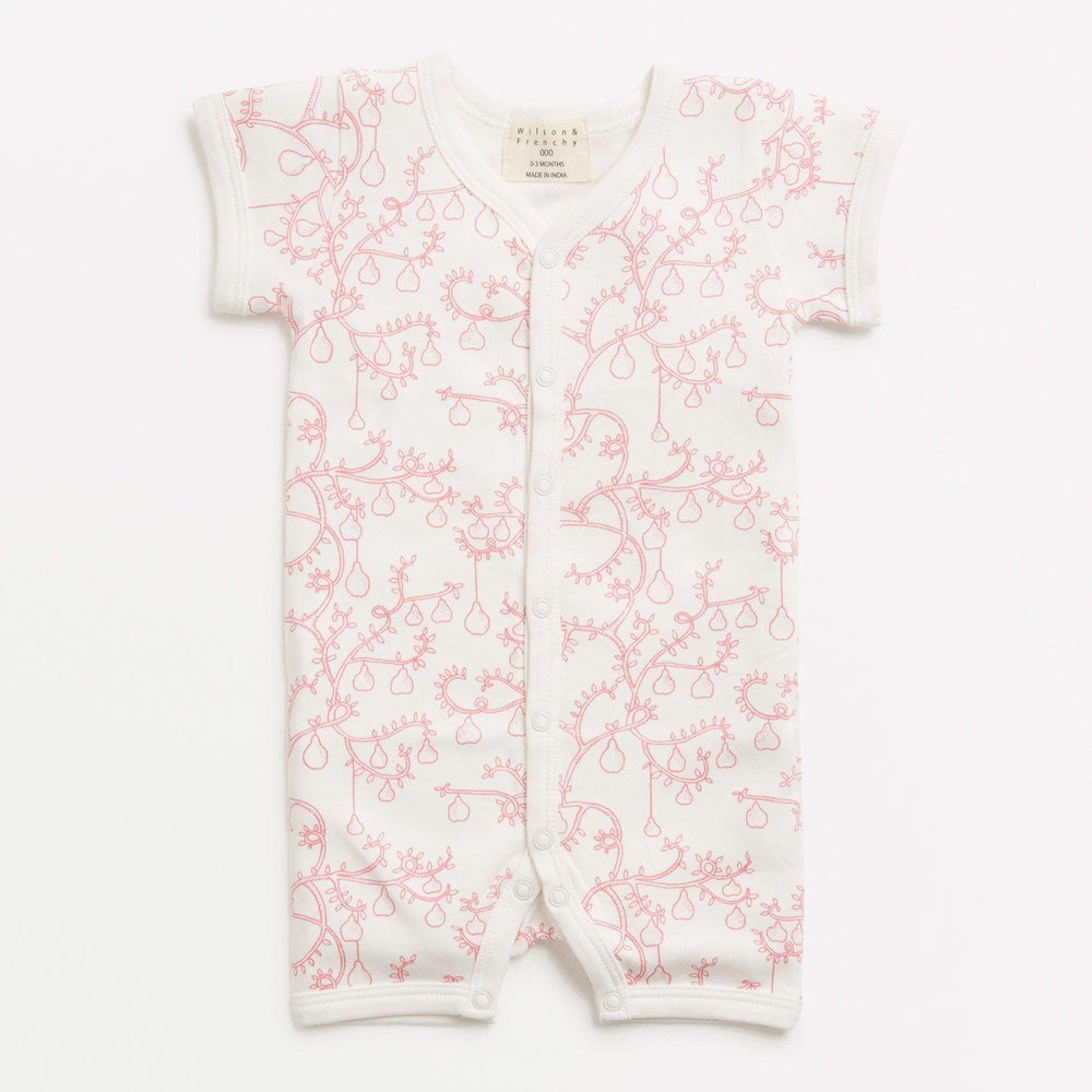 Baby Growsuit Short - Little Pear Tree - Baby Luno