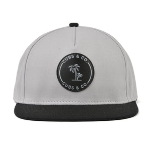 Load image into Gallery viewer, Snapback Hat - Signature Grey (Kids-Adults)