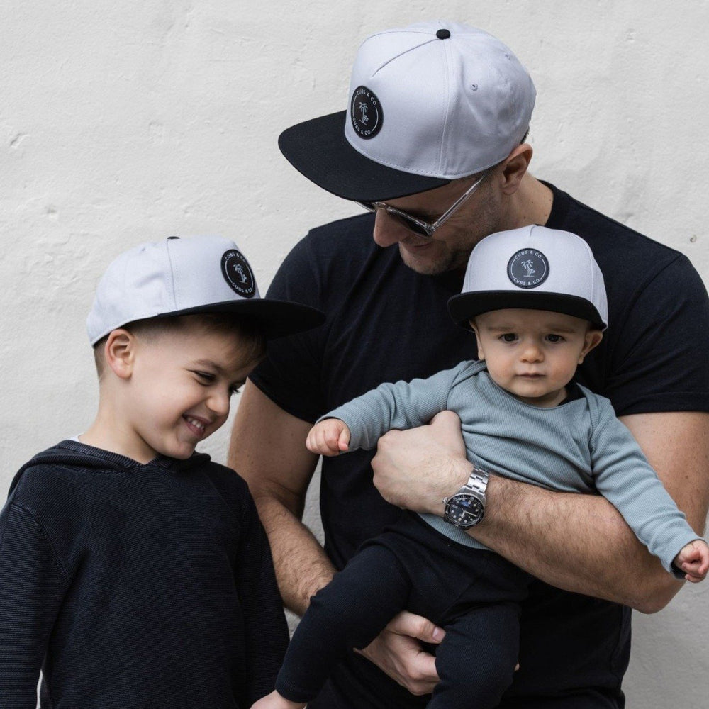 Snapback Hat - Signature Grey (Kids-Adults)