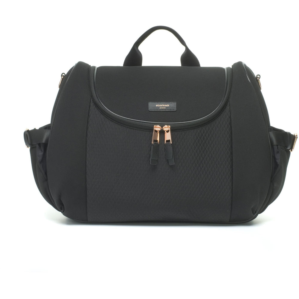 Baby Bag - Storksak Poppy Luxe Black Scuba