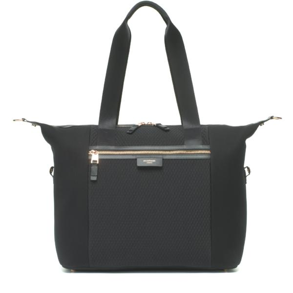 Baby Bag - Storksak Stevie Luxe Black Scuba