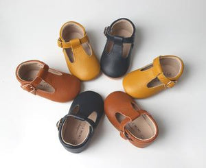 Kids Shoe - Little MeMe Quinn Tbar Mustard