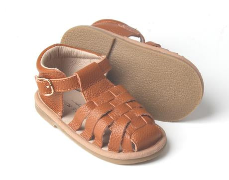 Load image into Gallery viewer, Kids Shoe - Little MeMe Sandal Aubrey Tan