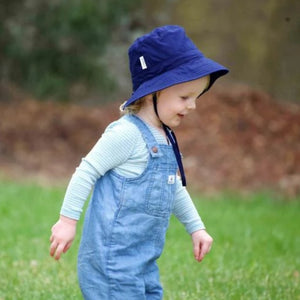 Load image into Gallery viewer, Kids Sunhat UPF 50+ Blue - Baby Luno