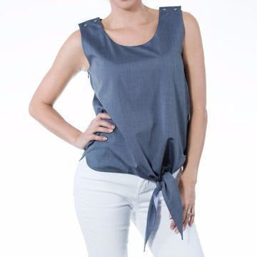 Knot Me Down Nursing Top - Navy