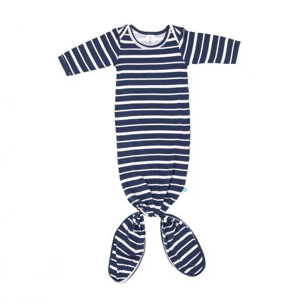Knotted Onesie - Blue Stripe