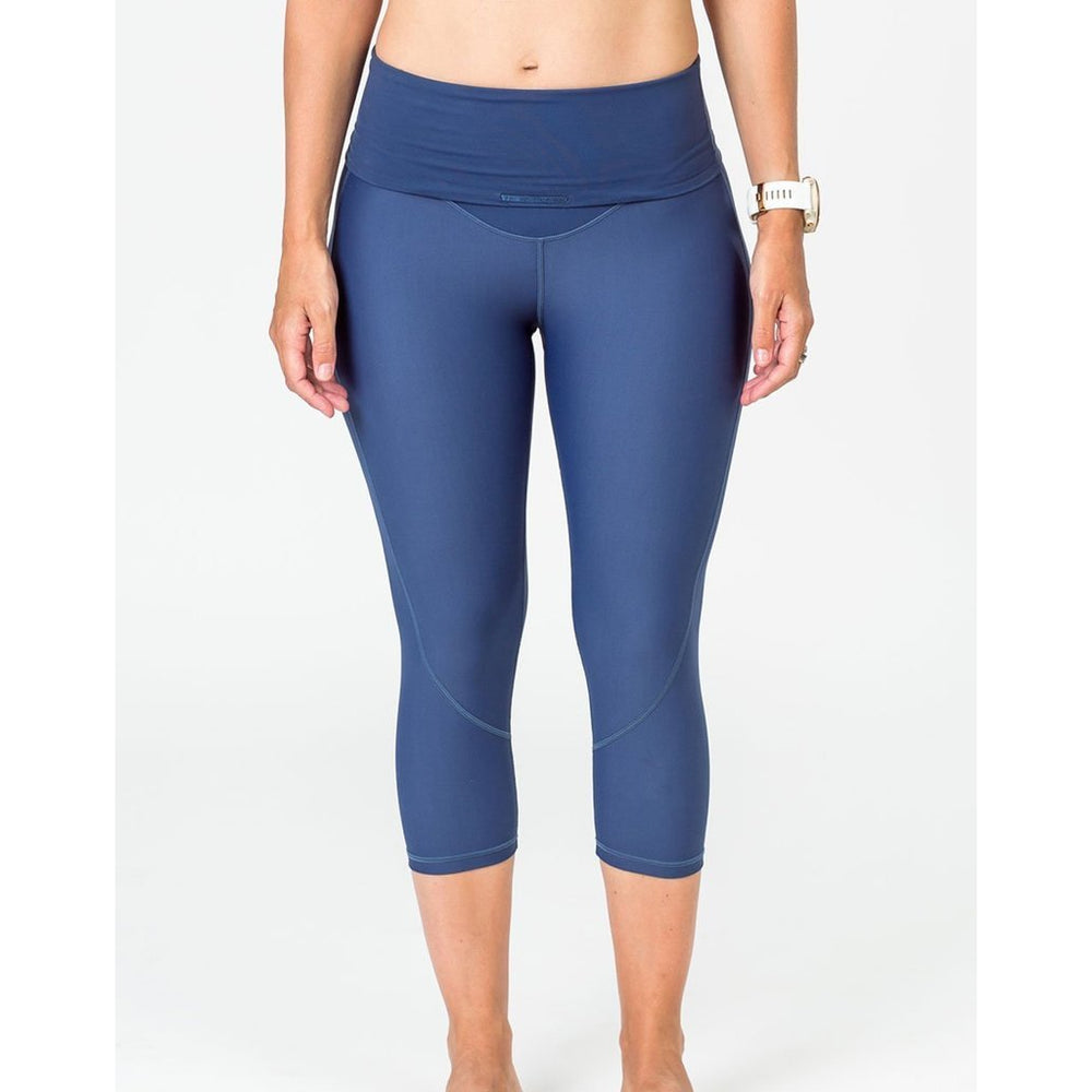 Maternity Leggings - Cadenshae 3/4 Pregnancy & Postpartum Bondi Blue