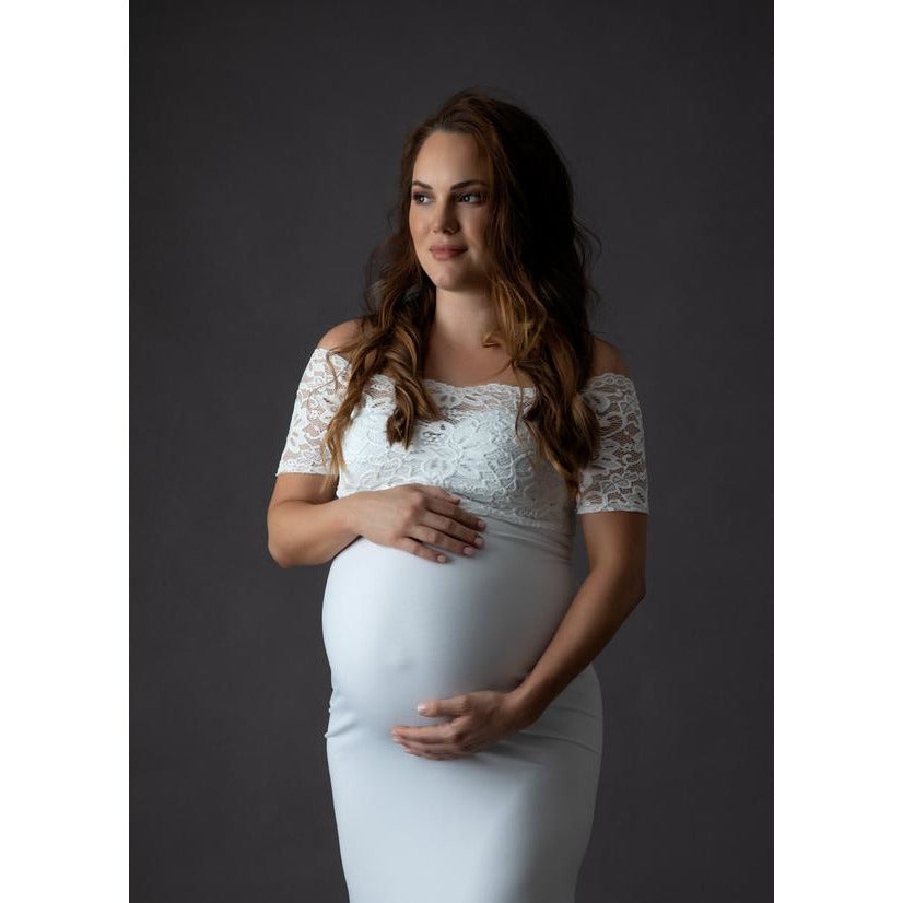 Maternity Lace Crop Top