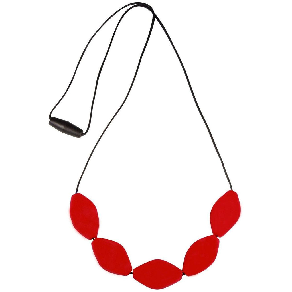 Large Tulip Bead Necklace Red
