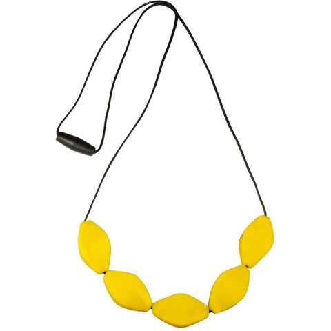 Large Tulip Bead Necklace Yellow