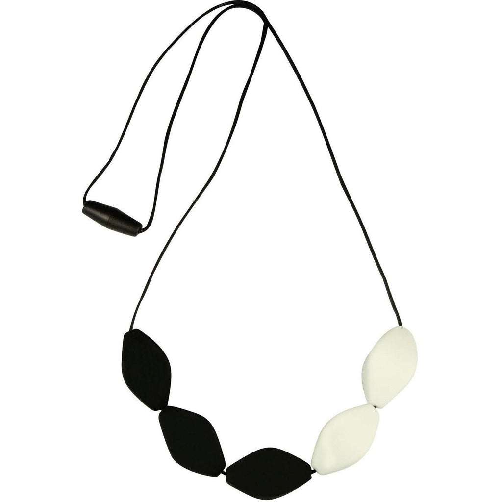 Large Tulip Bead Necklace Black & White