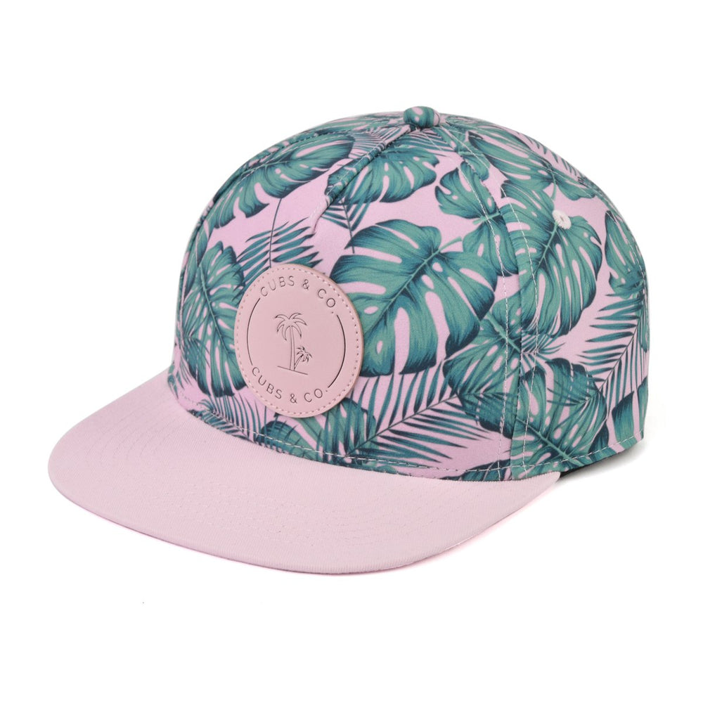 Snapback Hat - Tropical Leaf (Kids-Adults)