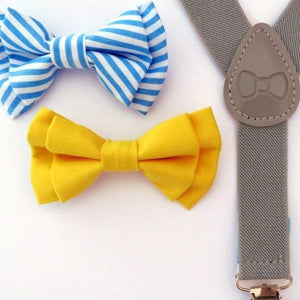Load image into Gallery viewer, Bow Tie & Suspenders - Mr. Jackson - Baby Luno