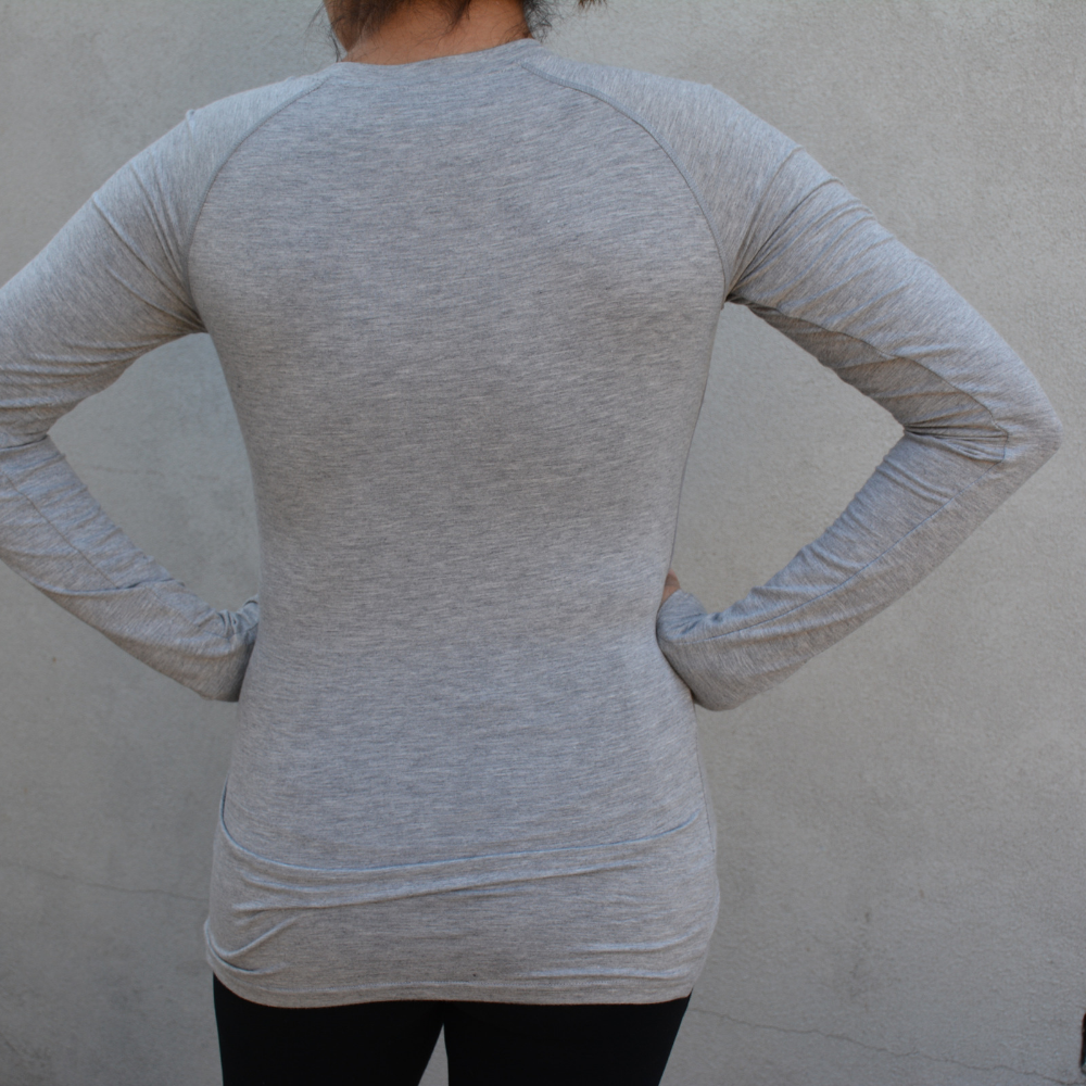 Load image into Gallery viewer, Nursing Long Sleeve Top - Maze Grey - Baby Luno