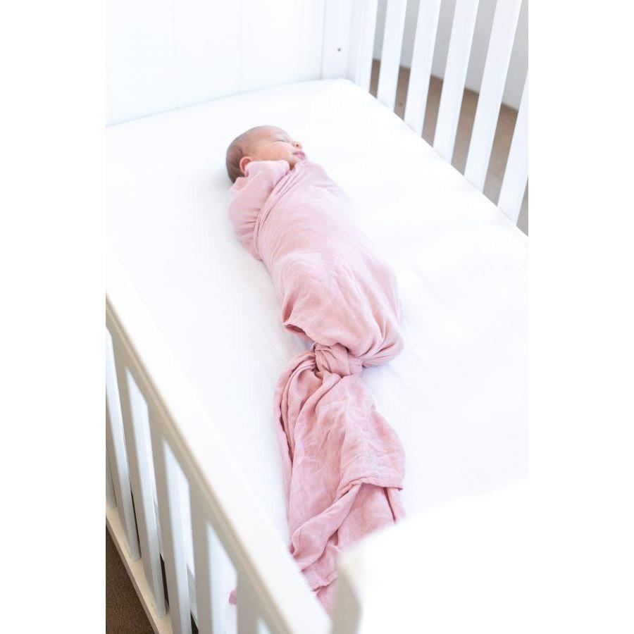 Load image into Gallery viewer, Baby Bamboo Swaddle Blanket - Perfectly Pink - Baby Luno