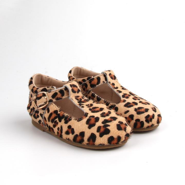 Load image into Gallery viewer, Baby Shoe - Little MeMe Mila Tbar Leopard