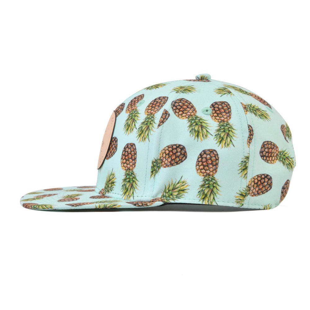 Snapback Hat - Aqua Pineapple (Kids-Adults)