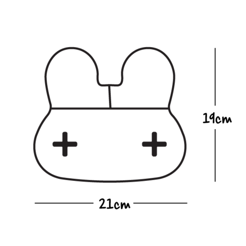 Load image into Gallery viewer, Stickie Plate - Bunny Grey
