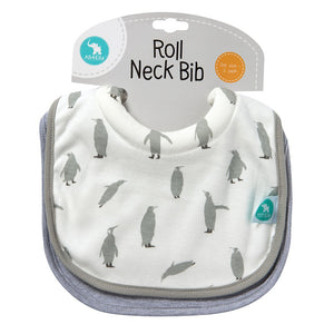 Load image into Gallery viewer, Baby Bib - Roll Neck Penguin 2-pack - Baby Luno