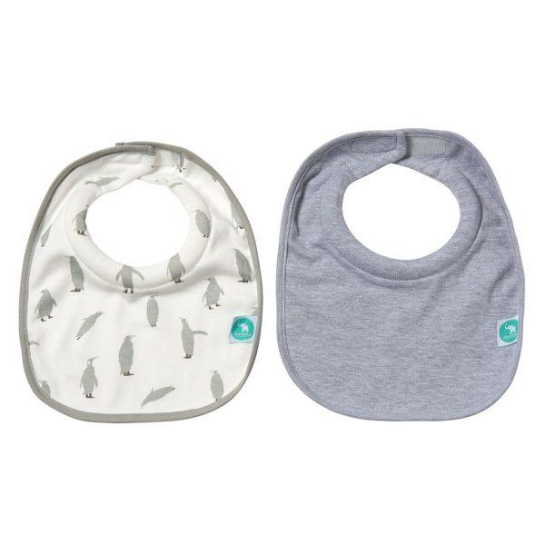 Baby Bib - Roll Neck Penguin 2-pack - Baby Luno