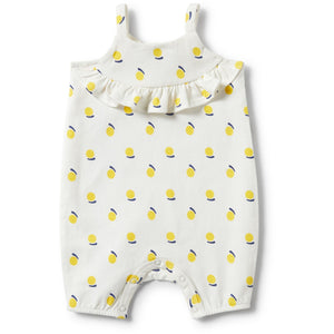 Load image into Gallery viewer, Baby Playsuit - Sunshine Ruffle Singlet Strap - Baby Luno